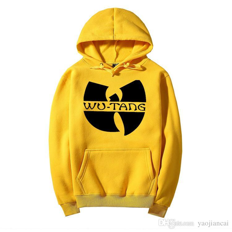 Winter Dress Classic Style Wu Tang Band Printed Hoody Sweatshirts With Hat  Sportswear Hip Hop Clothing men's Hoodies Tracksuit 04