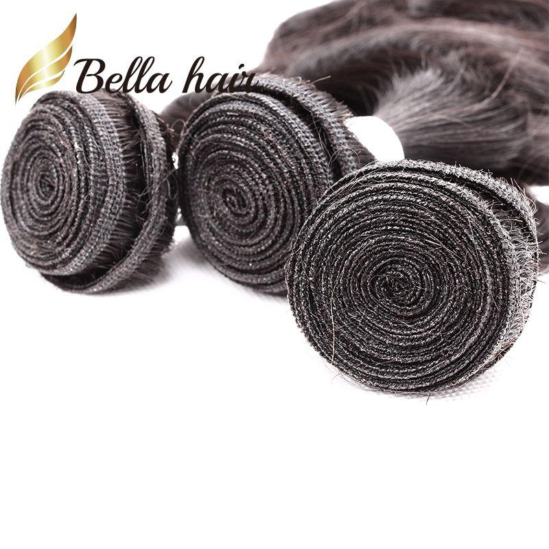 ベラヘアー®グレード9A 10~24インチ未処理ブラジルバージンヘアエクステンションボディウェーブウィーズ自然な色2バンドル