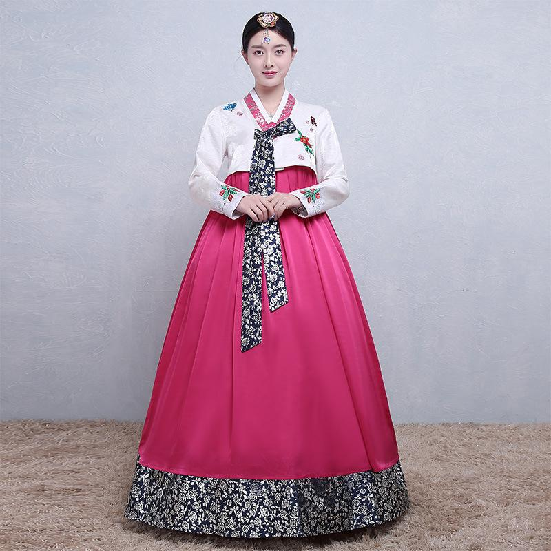 7636d740e8 Women New Clothing Hanbok Dress Korean Traditional Royal National Dance  Performance Costume Female Ball Gowm Cosplay Clothes