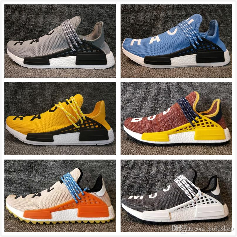 2018 NMD HumanRace Running Shoes Men Women Boost Cheap Human Race New High Quality Free Shipping Size 5-12.5 With Box