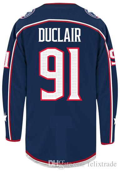 20 Tommy Blue Dillon J-f Adam Hockey Berube Stiched Nash Jackets Jersey 91 Cross 30 Duclair Riley 5 Simpson Columbus Clendening Anthony