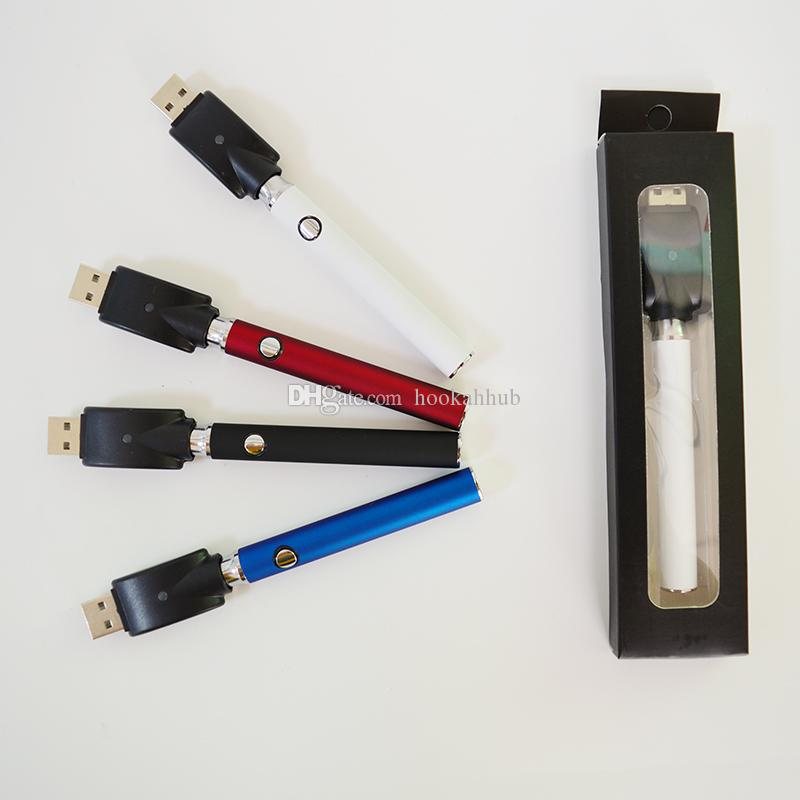 VERTEX 350mah VV Préchauffer la batterie 510 Filetage de la batterie Tension variable Vape Pen Cigarettes électroniques Préchauffage de la batterie pour cartouches d'huile