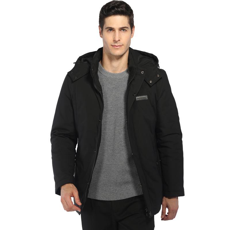 e4586a997d2 2018 Winter Jacket Parka Coat Men Duck Down Jacket Men Long Black Parkas  Slim Fit Korean Hooded Thick Male Tops Plus Size ZT333