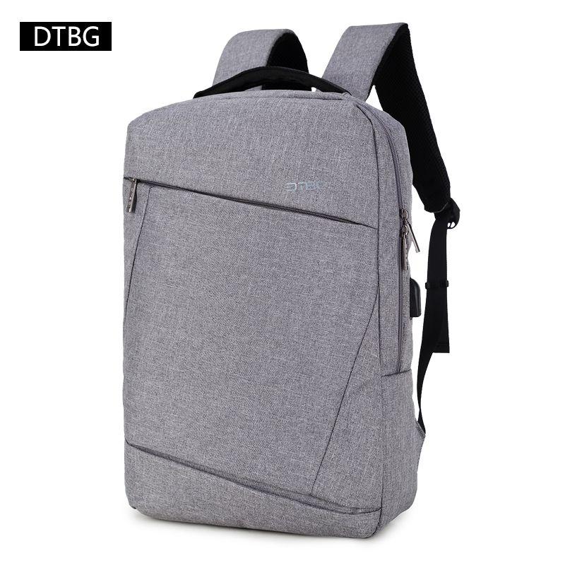 DTBG Gray Backpack 15.6 Laptop Back Pack Men Women Fashion Slim Travel Bags  Large Capacity Waterproof College School R Water Backpack Mesh Backpack  From ... 6966d4af8294b
