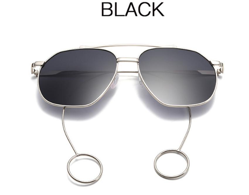Brincos de Metal de Grandes Dimensões Óculos De Sol Da Moda grande quadro Estrela brincos oculos de sol Ao Ar Livre óculos de armação plana Óculos LJJG38
