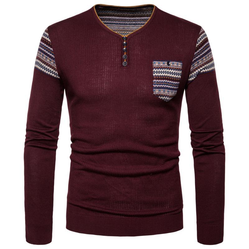 купить оптом мужская вязаный пуловер свитер осень зима новый