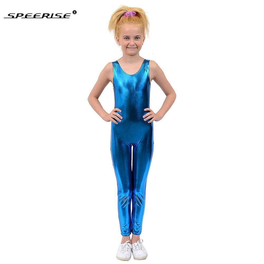 de3ad9619647 2019 Speerise Kids One Piece Tank Unitard Girls Lycra Ballet ...