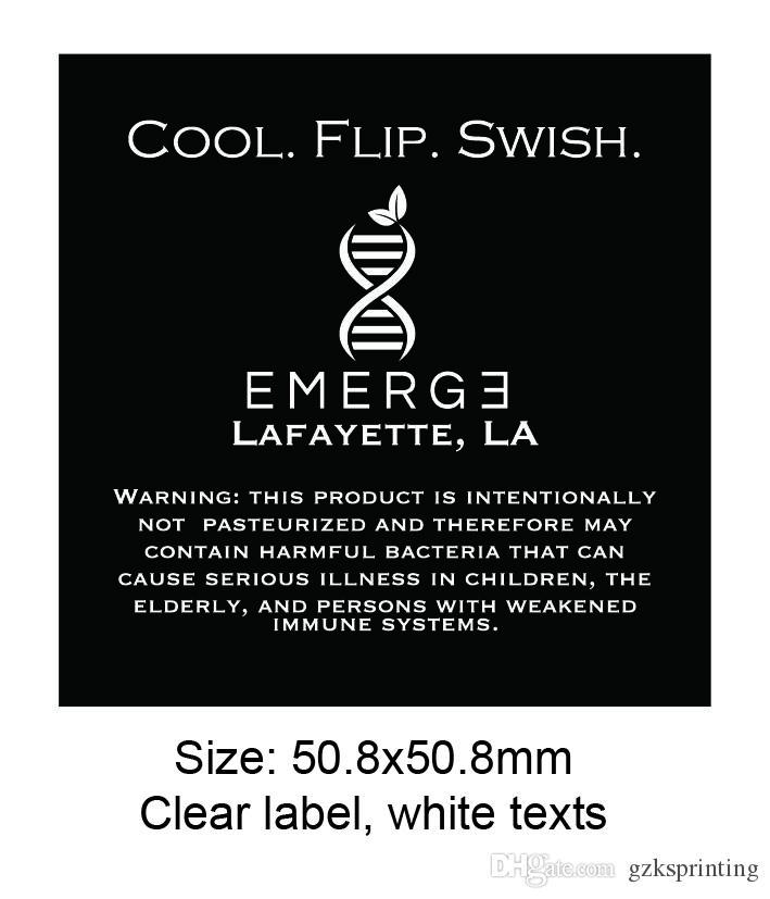 Klare Etiketten Drucken Matt Oder Glänzend Laminiert Kundenspezifische Klare Aufkleber Für Flaschen Gläser Transparente Aufkleber Etiketten Für