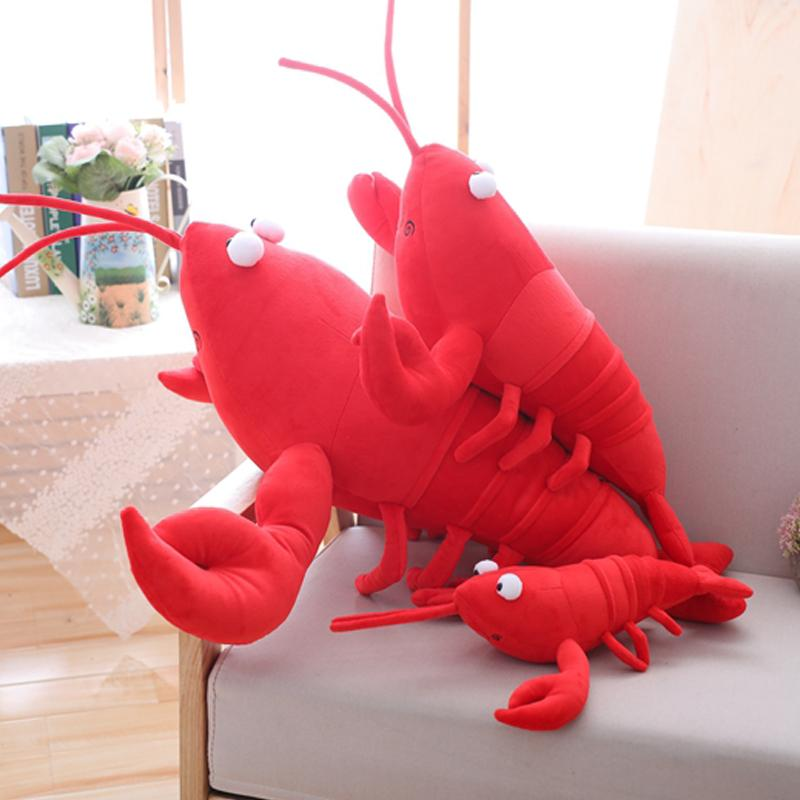 2019 30 80cm Red Lobster Stuffed Plush Toy Big Lobster Plush Doll