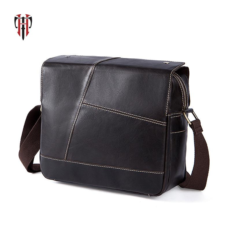 e0902d856b44 TIANHOO Leather Bags Mens Shoulder Bags Real Cowwide Layer Genuine Leather  Bag Messenger   Satchels Fake Designer Casual Cross Body Purses Cheap  Designer ...