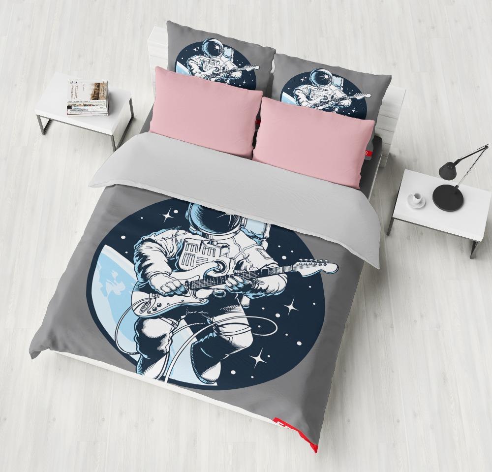 Funda Nordica Espacio.Moda Para Ninos Nuevos Cielo Estrellado Funda Nordica Tema Del Espacio Exterior Astronauta Milkyway Imprimir Galaxy Stardust Earth Decoracion Para