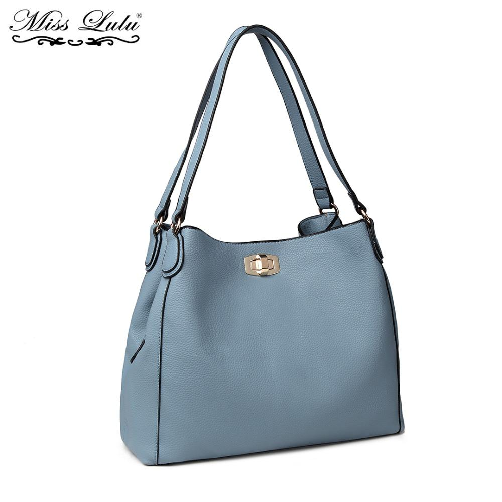 Miss Lulu Women Designer Luxury Handbags Female Shoulder Bag High Quality PU  Leather Ladies Fashion Tote Compartments LT1753 Shoulder Bags Cheap Shoulder  ... c19544b122213