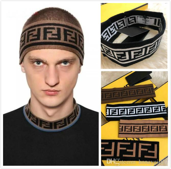 89a93d25d54 New F Headband Luxury Brand Headband for Men And Women Double F Hair ...