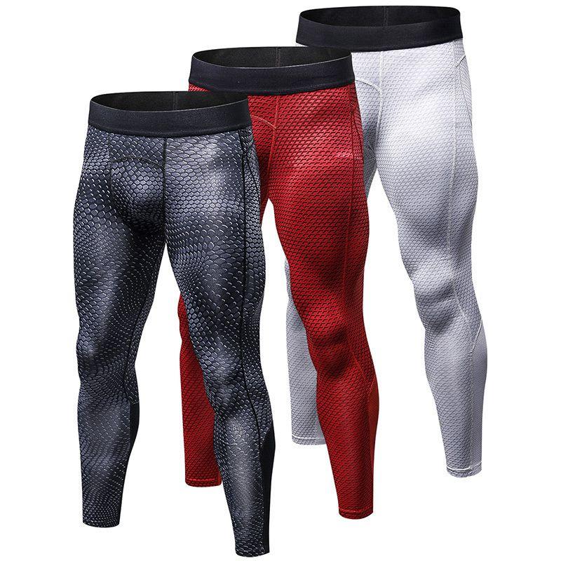 d64daa4b16 2018 Men Compression Running Tights Men's Gym Fitness Bodybuilding Jogging  Sport Trousers Slim Pants For Men Running Leggings