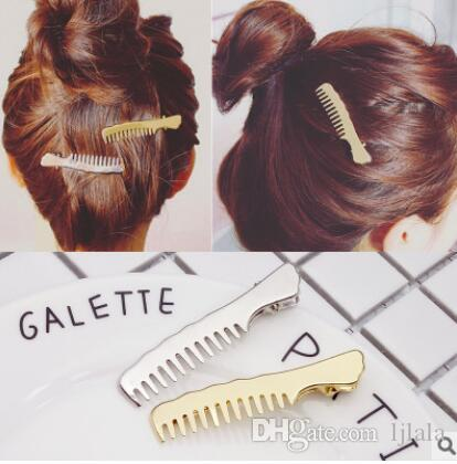 Exquisite Fashion Jewelry Comb Hair Clip Fashion Alloy Duckbill Clip Holder Girls Decoration Cute Factory Outlet Women