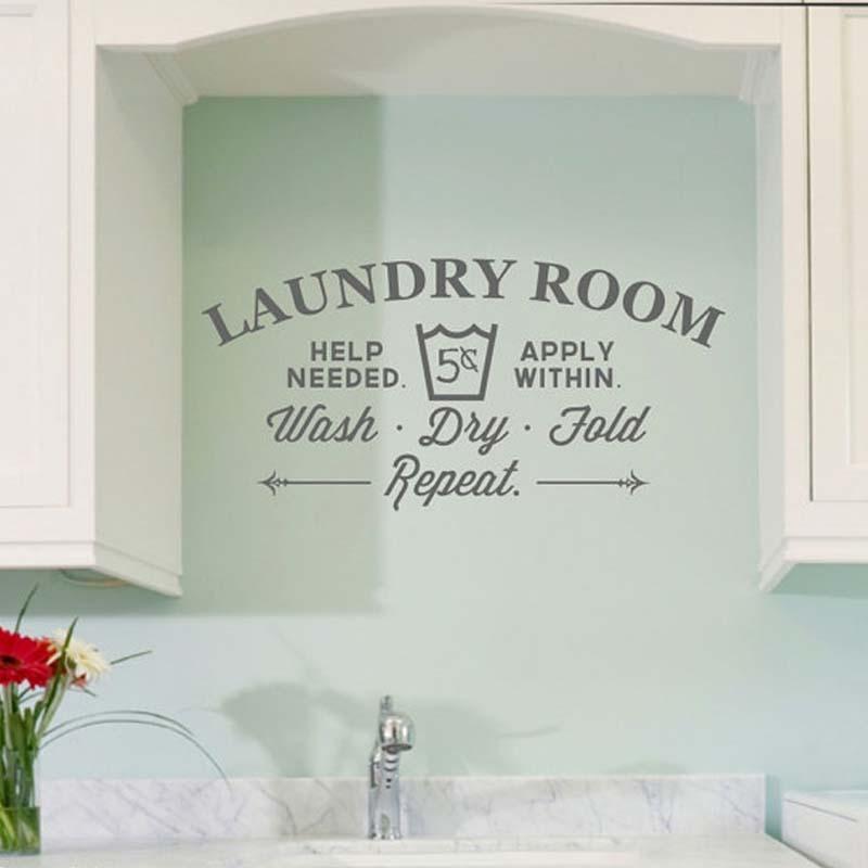 Creative Laundry Room Bathroom Bathtub Wall Stickers Home Decor