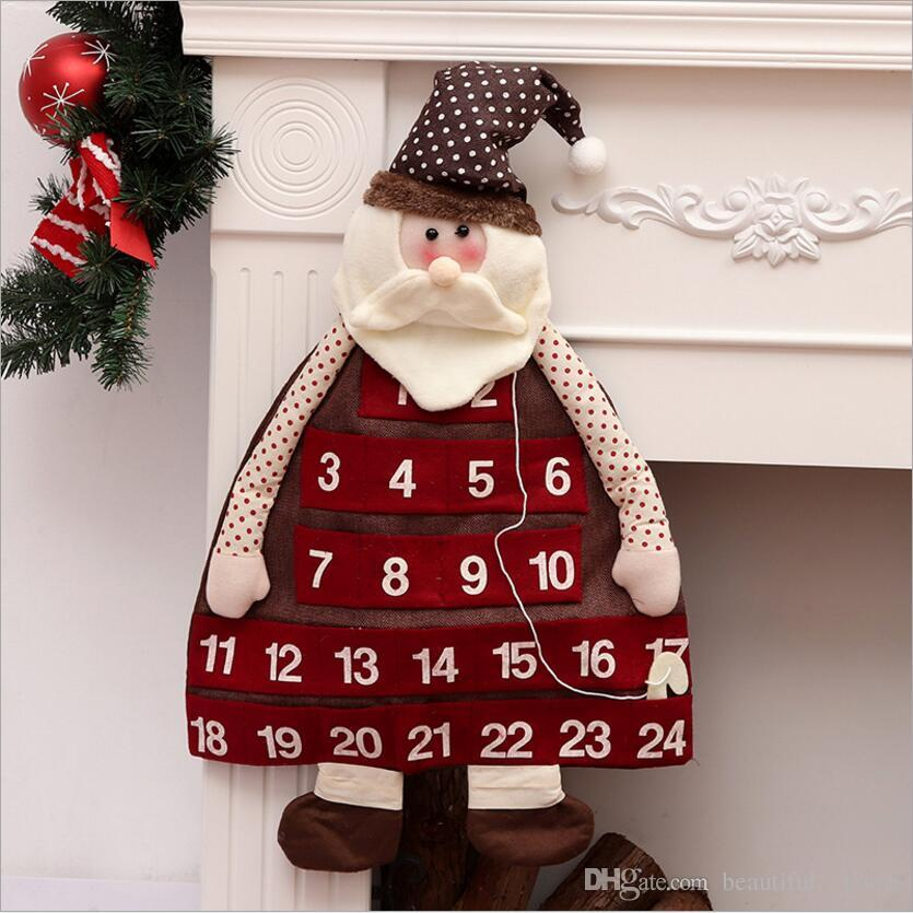 2018 2019 new year christmas decorations countdown calendar christmas countdown calendar pendant christmas eve scene atmosphere gift snowman from