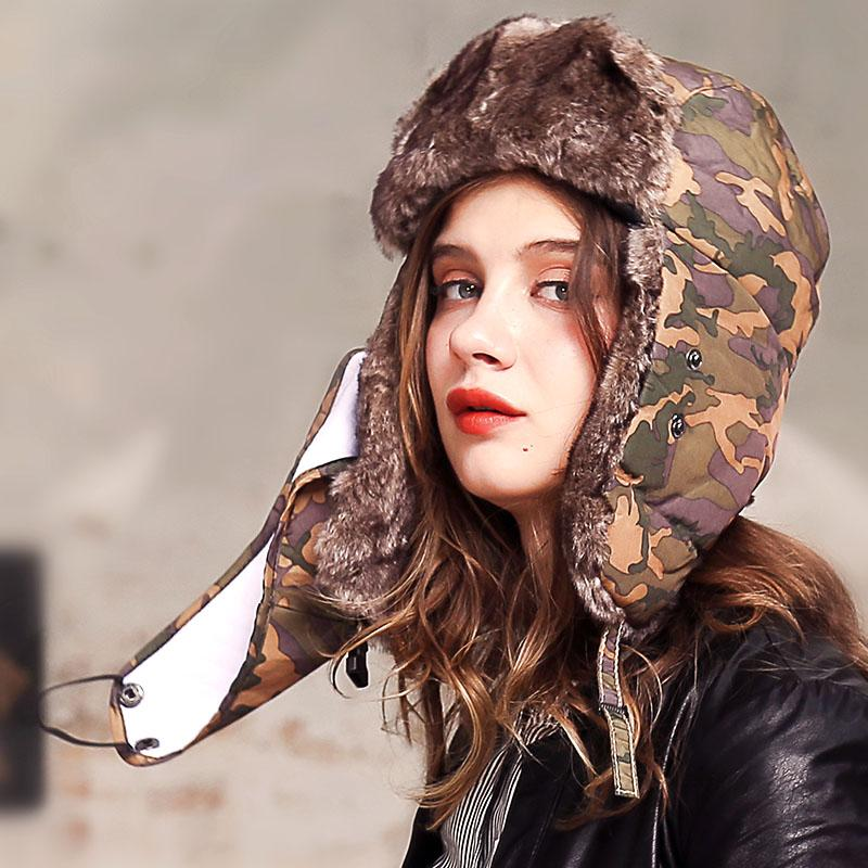 01534a0f239 XJHOOOO New 2018 Warm Winter Snow Bomber Hats Women Faux Fur ...