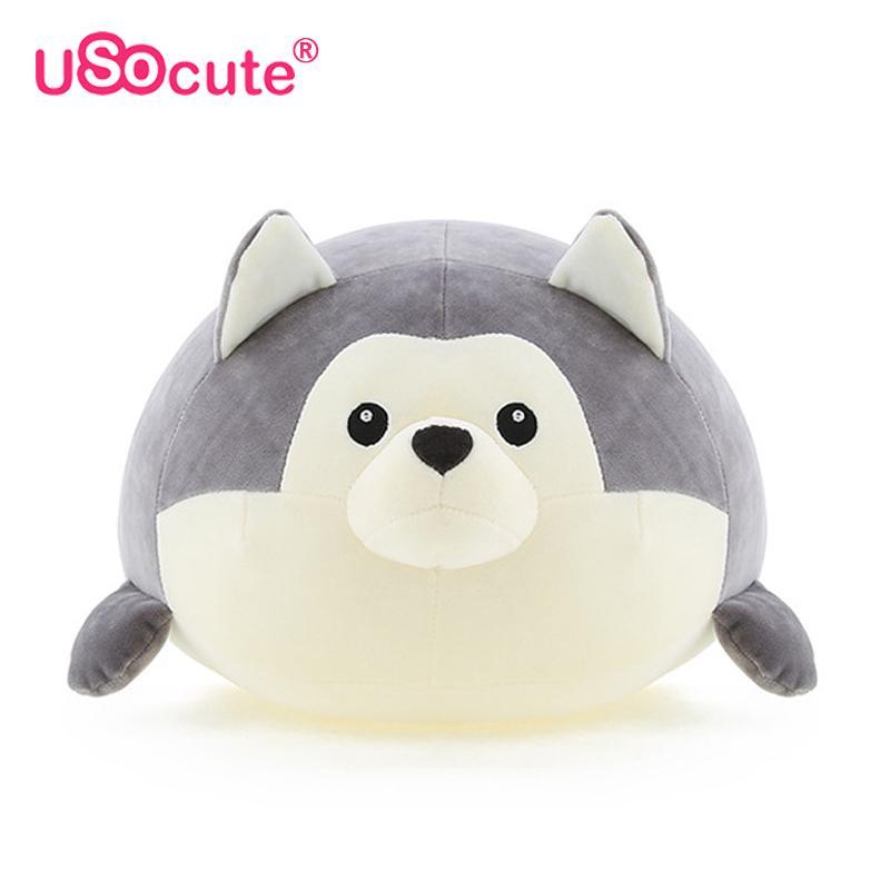 2019 Husky Plush Kids Toys Dog Plush Cushion Pillow Toys Soft