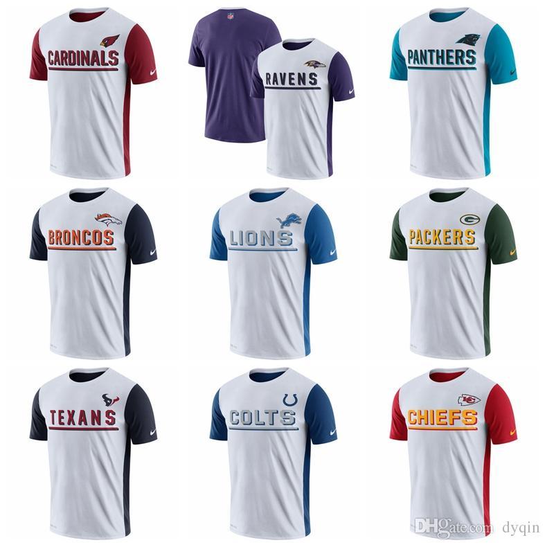 ca4e789f5 Compre Camisa De Luxo T Mens Designer T Camisas Green Bay Packers Carolina  Panthers Cardeais Corvos Broncos Leões Champ Drive 2.0 Desempenho T Shirt  De ...