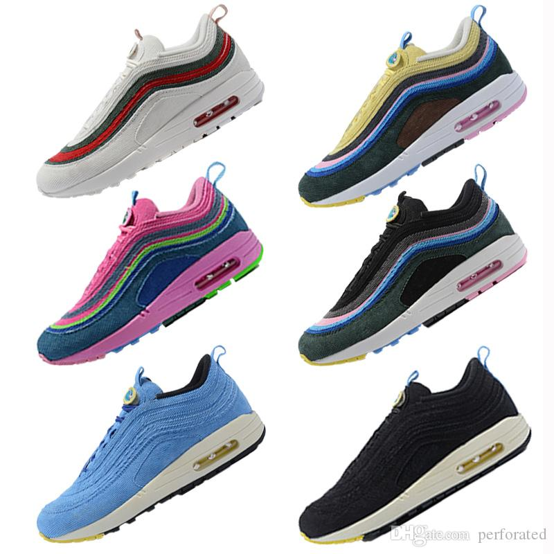 2019 2018 97 Custom Sean Wotherspoon X 1 97 VF SW Hybrid Running Shoes Mens  Women Designer Trainers Casual Chaussures Sneakers 36 45 From Perforated bb71d3b18