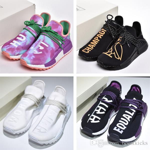 b415bf7f3 Pharrell Hu Trail Human Race Holi Blank Canvas Pack Running Shoes Human Race  Nerd Sneakers OVO Cotton Candy Men Women Online Store Shop Shoes Men Shoes  On ...