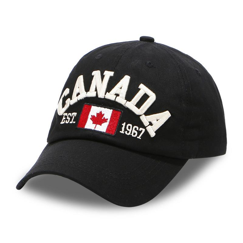 095fadf0314 Canada Baseball Cap Men Dad Hat For Women Sports Flag Full Cap Solid Color  Bend Visor Brand Male Bone Fitted Baseball Hats Beanies Kangol From  Gwyseller