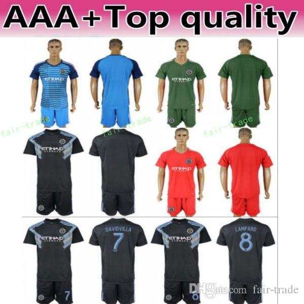 Compre Football Club New York City Jersey De Manga Larga Set De Fútbol 8  Lampard 10 Moralez 21 Pirlo 7 David Villa 1 Johnson Shirt Kit A  13.21 Del  Fair ... ad503c0a997ac