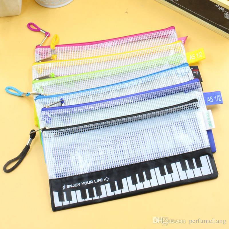 Cute Pencil Bag Pen Holder Home Sundries Pouch Bag Musical Piano Keyboard Pencil Case School Stationery New ZA5813