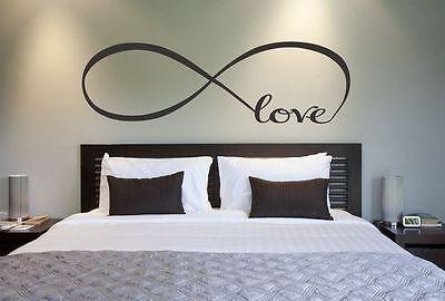 Любовь бесконечность свадьба спальня украшения виниловые наклейки на стены дома наклейка искусства