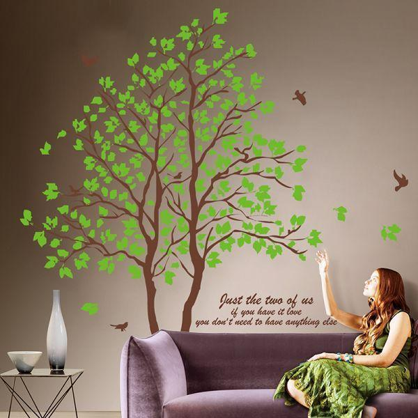 Large 3D Removable Dining Room Wall Stickers Home Furnishing Decorative Green Trees Y18102209 Zebra Decals From Gou09