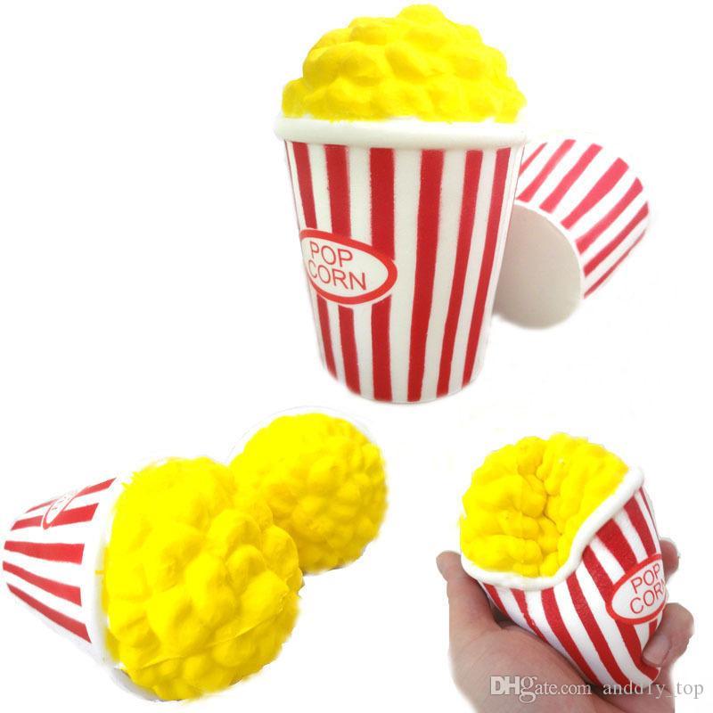 Popcorn Yavaş Yükselen Şişirilmiş Pirinç Squishies Oyuncak Simülasyon Kokusu Parfüm Jumbo Dekor Hediye Çocuklar Için Relax Squishy Ücretsiz Kargo SQU006