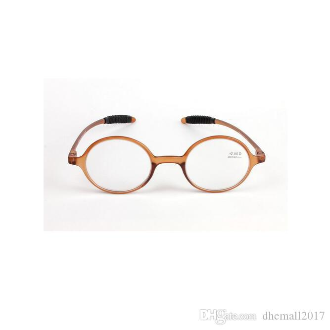 84e4e6b87a Retro Reading Glasses Fashion Round Resin Lens Eyeglasses Women Men  Magnification Eye Reader Brown Full Plastic Frame +1.0~+4.0 Light Weight Reading  Glasses ...