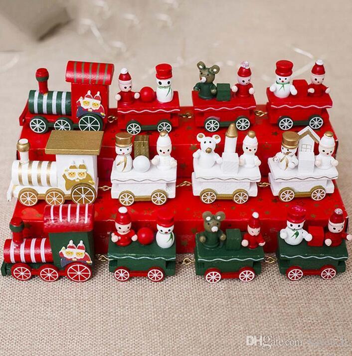 Großhandel 2018 Neueste Mini Weihnachten Holz Zug Weihnachten ...