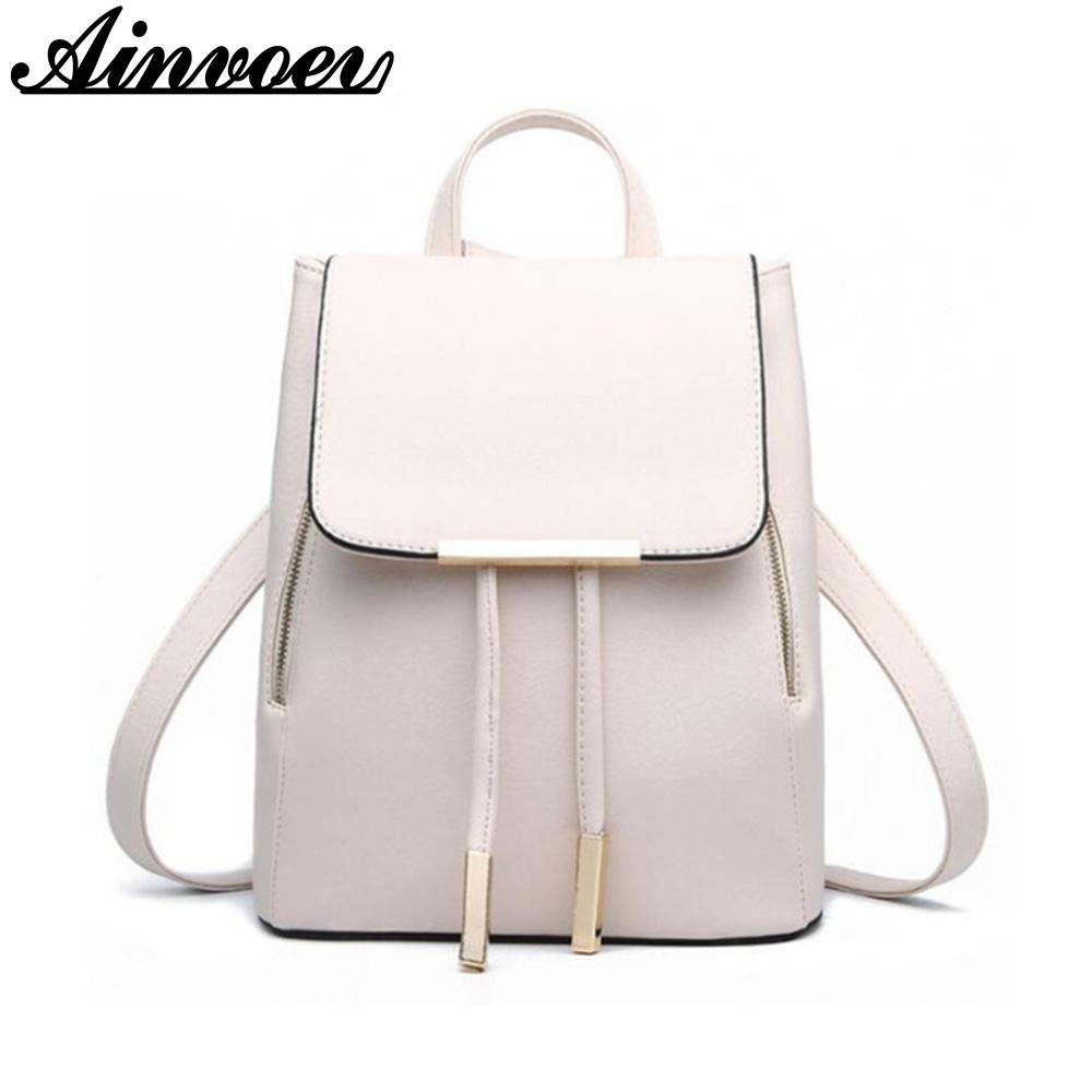 b479644b5f Ainvoev Women Backpack Girls School Bags Large Capacity Book Bag Candy  Color Women Bags Hot Sell Knapsack Double Shoulder Backpacks For Girls  Waterproof ...