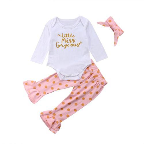 fd6926c4c 2019 0 3Y Newborn Infant Kid Baby Girl Clothes Cotton Long Sleeve ...