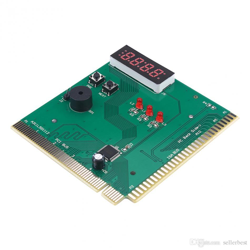 VBESTLIFE 4-Digit Card PC Analyzer Computer Diagnostic Motherboard POST Tester for PCI & ISA