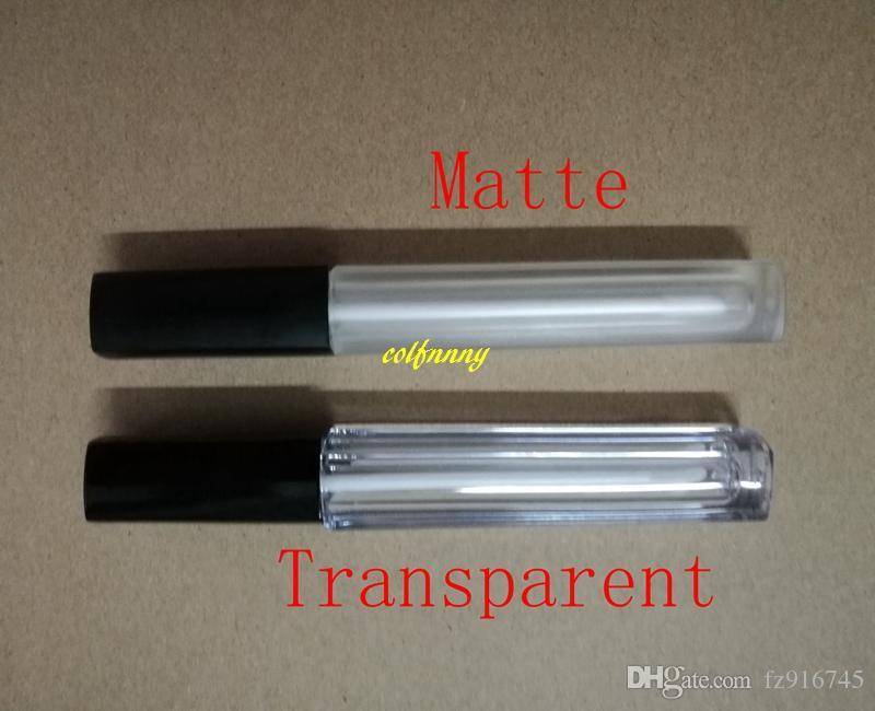 / Tube brillant à lèvres vide réservoir d'huile à lèvres maquillage récipient brillant à lèvres 5ml Tubes carrés en plastique avec le prix de gros