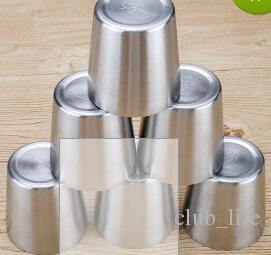 Taza de café de acero inoxidable taza de café de doble pared tazas de té de cerveza portátil acampar viajes Drinkware ZJ8740