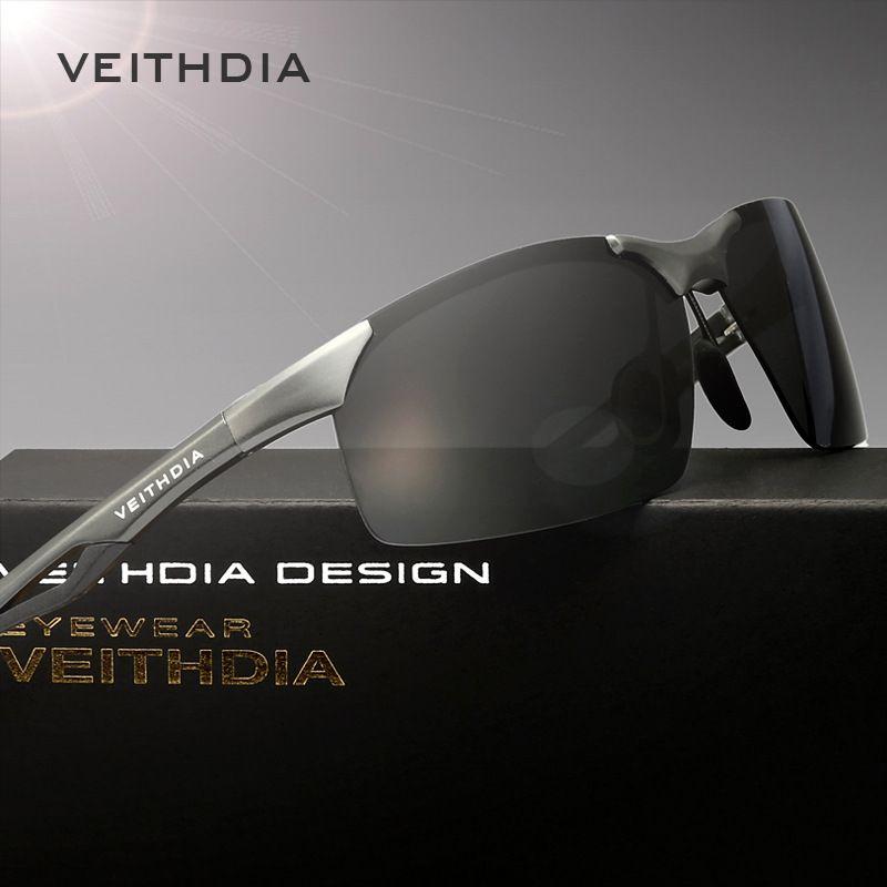 a6fc2b96c VEITHDIA Men Original Box Brand Polarized Sunglasses Sports Driving Outdoor  Fishing Glasses Eyewear Aluminum Magnesium Frame 6591 Vuarnet Sunglasses  Bifocal ...