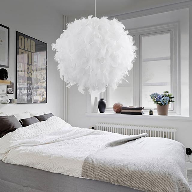 Großhandel Moderne Pendelleuchte Romantic Dreamlike Feder Droplight ...