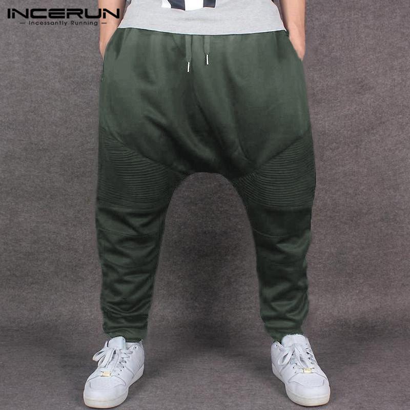 Compre Hiphop De Invierno Para Hombre Pantalones Harem Ropa De Hombre  Caliente Pantalones De Chándal Pantalones Anchos Pantalones Sueltos  Gimnasio Gimnasio ... 52faf298b2a
