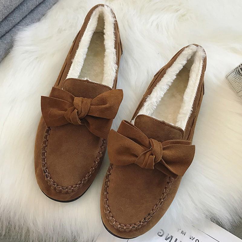 6b38af44974 Compre Zapatos De Invierno Cálidos Zapatos De Mujer Plataforma Suave  Zapatos De Piel Zapatos De Señora Mocasines Mujer Mono Con Nudos Mocasines  Al Aire ...