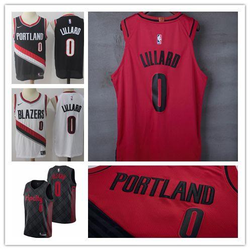 Mens 0 Damian Lillard Portland Jersey Trail Blazers Basketball ... da300a786