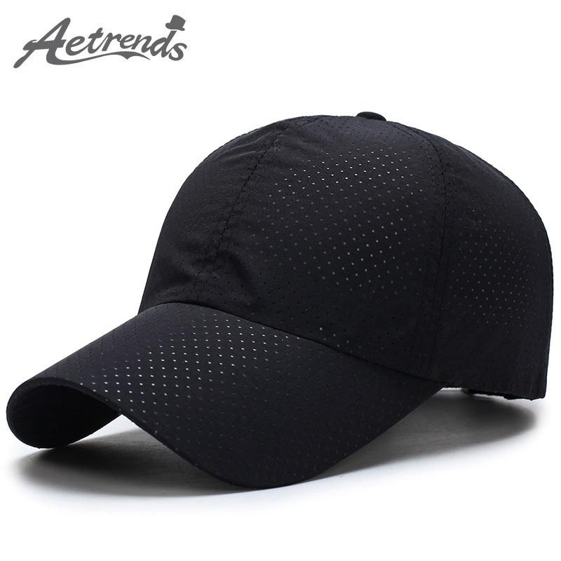 fbf245304e14b6 Adjustable Men Women Summer Snapbacks Quick Dry Mesh Baseball Cap ...