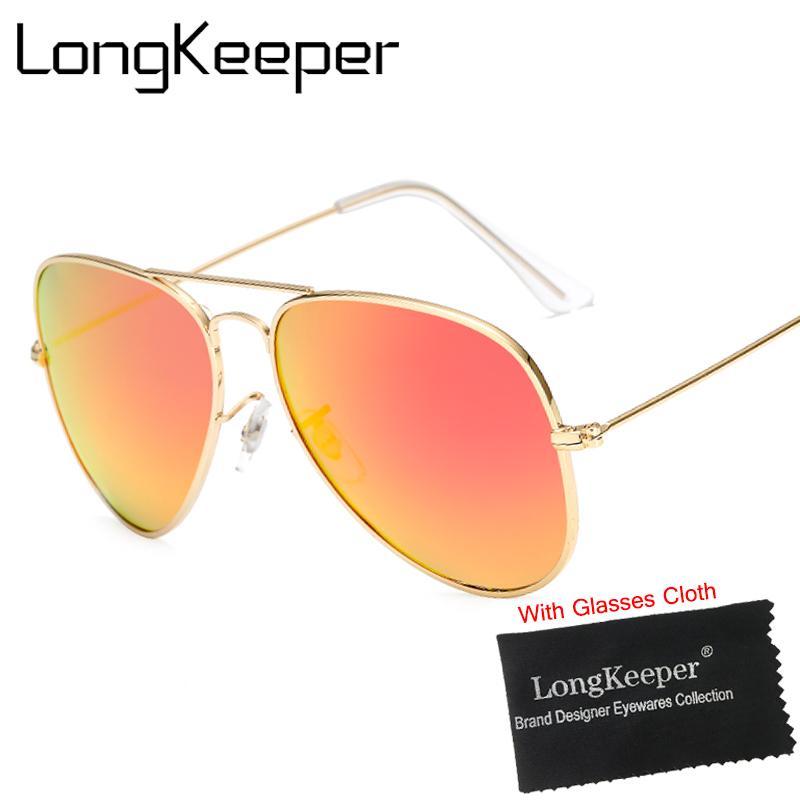 c92a481d1a96e Compre Longkeeper 2018 Nova Moda Marca Designer De Óculos De Sol Das  Mulheres Dos Homens Retro Piloto Óculos Polarizados Condução Pesca Óculos  De Sol De ...