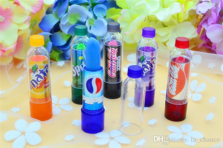 dropshipping Fantastica bottiglia di cola Cambia colore Rossetto Trucco Lucidalabbra idratante a lunga durata in stock con regalo
