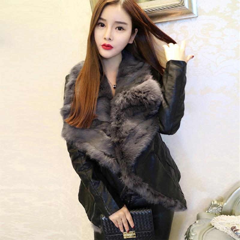 Asian Size 2017 Women Winter Luxury Real Fox Fur Belt Motorcycle Faux Leather  Jackets Female Black Short Outerwear Coat H172 UK 2019 From Vanilla10 ecf657454