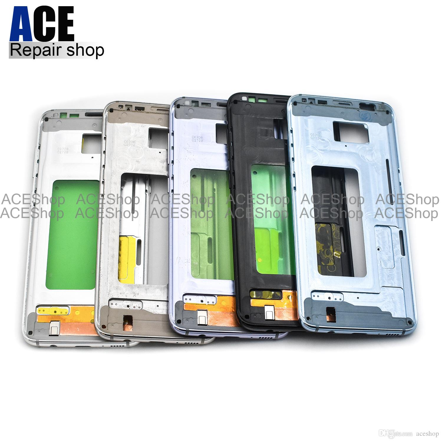2018 Ace Oem Metal Middle Bezel Frame Case For Samsung Galaxy S8 G950 G950p G950f For S8 Plus G955 G955p G955f Housing With Side Buttons From Aceshop