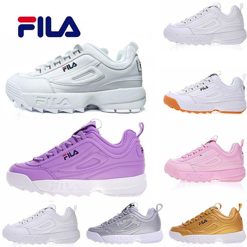 f70b8fdb1d6 Acheter 2019 FILAS Mens Chaussures De Course Sneaker Femme Nouveau One Step  Blanc Blanc Ray Noir Filas Rose Mode Hommes Créateur De Sport Chaussures  Femmes ...